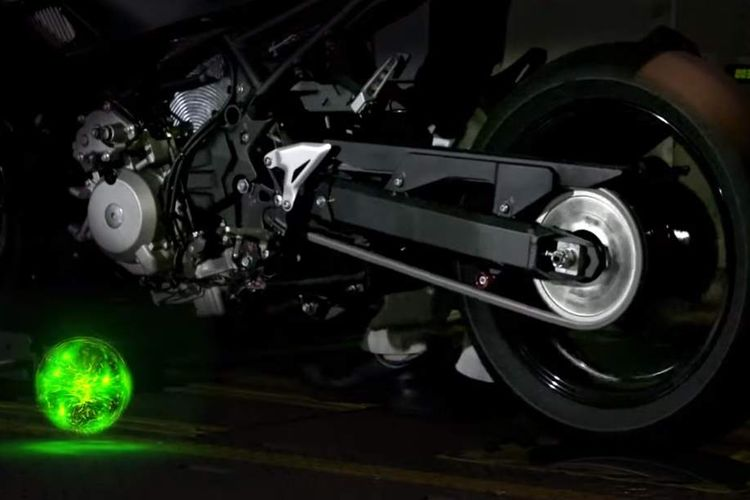 Kawasaki mulai pamerkan sedikit sistem hybrid pada motornya