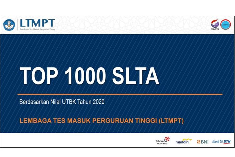 Tangkapan layar webinar LTMPT tentang Top 1000 SLTA