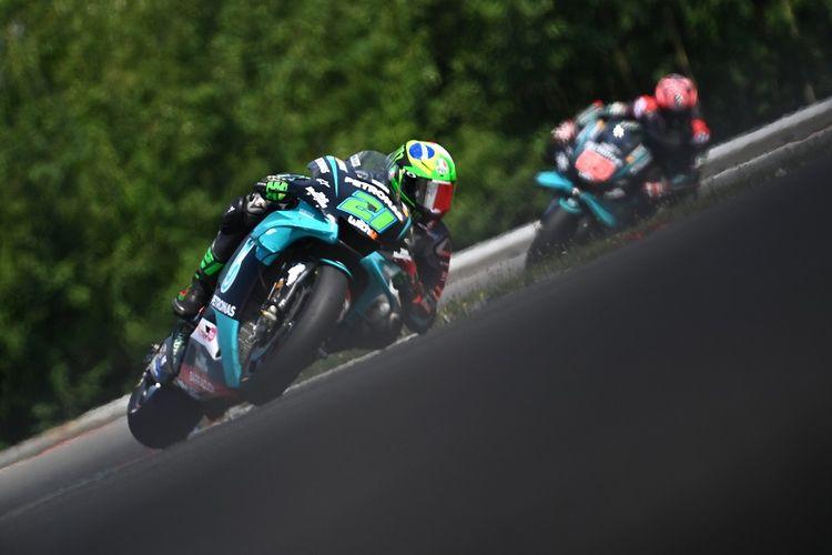 Pebalap Italia Petronas Yamaha SRT, Franco Morbidelli, dalam MotoGP Ceko di Sirkuit Brno pada 9 Agustus 2020.