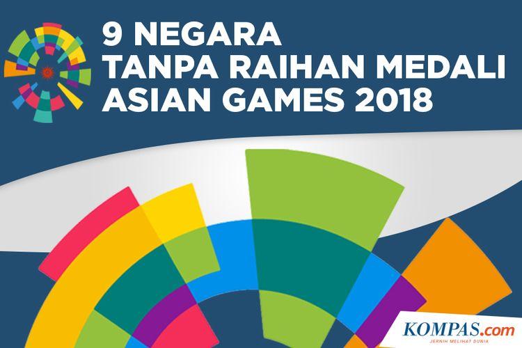 9 Negara Tanpa Raihan Medali Asian Games 2018