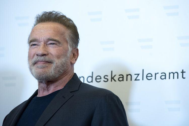 Aktor Arnold Schwarzenegger berada di Vienna, Austria, untuk bertemu dengan Kanselir Au,stria Sebastian Kurz pada 29 Januari 2019.