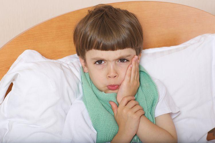 Ilustrasi anak sakit gigi