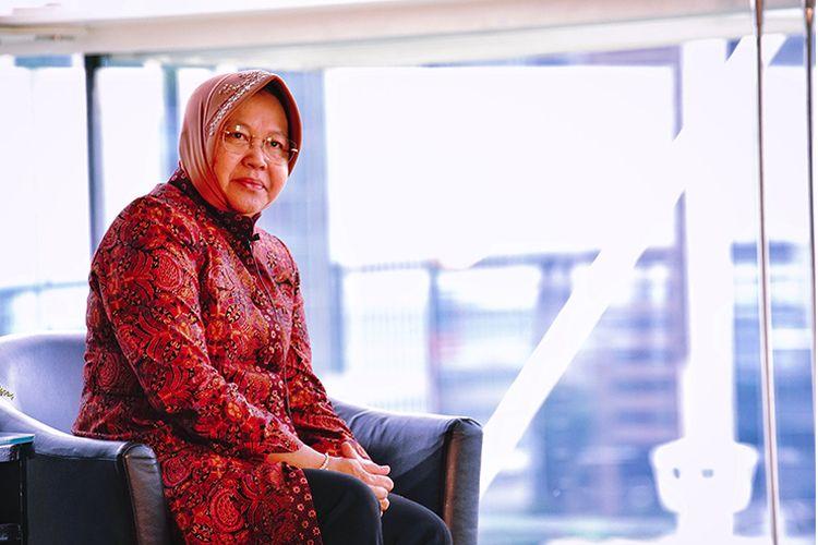 Tri Rismaharini saat menjabat sebagai wali kota Surabaya.