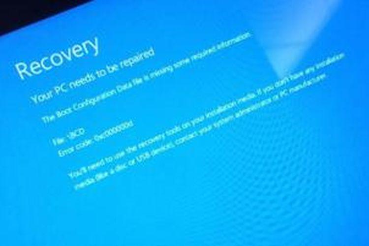 Pesan error pada update Windows RT 8.1