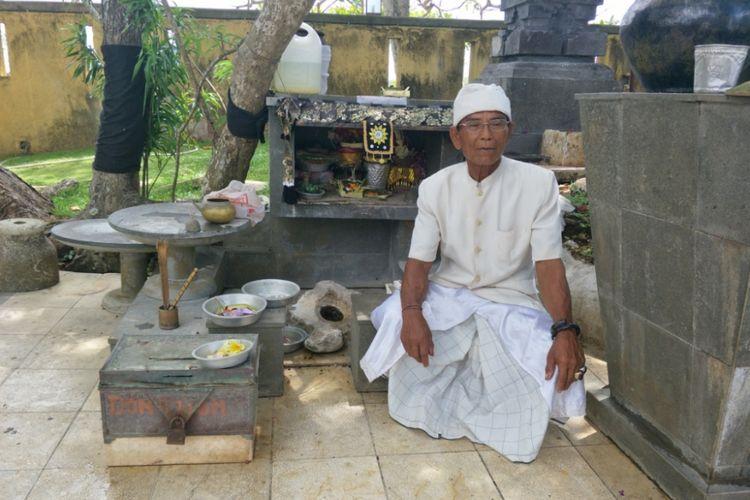 Mata air Parahyangan Somaka Giri yang terletak di pintu gerbang Garuda Wisnu Kencana (GWK) di Jimbaran, Bali.
