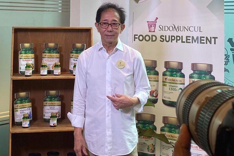 Direktur Sido Muncul Irwan Hidayat optimistis produk baru Sido Muncul berupa food suplement dalam kemasan soft capsule mampu menembus pasar internasional. Peluncuran 7 food suplement Sido Muncul berlangsung di Kantor Sido Muncul Cipete, Jakarta Selatan, Kamis (20/2/2020)