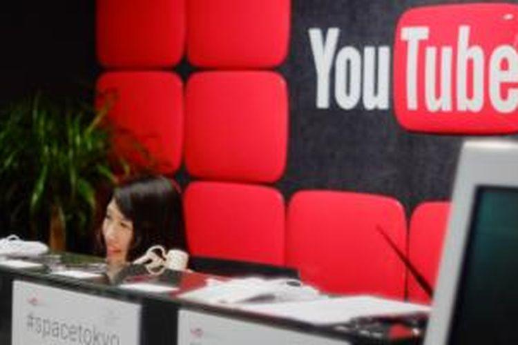 Lobby YouTube Space Tokyo yang terletak di lantai 29 Mori Tower, Roppongi, Tokyo, Jepang.