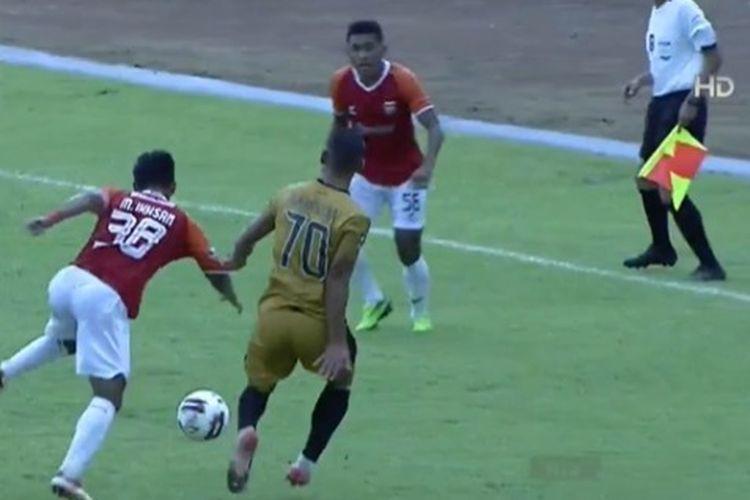 Pertandingan Grup B Piala Menpora 2021 antara Bhayangkara Solo FC dan Borneo FC di Stadion Kanjuruhan, Malang, Senin (22/3/2021).
