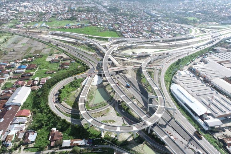 Interchange Tanjung Mulia Jalan Tol Trans Sumatera Ruas Medan-Binjai Seksi 1 Segmen Tanjung Mulia-Helvetia.
