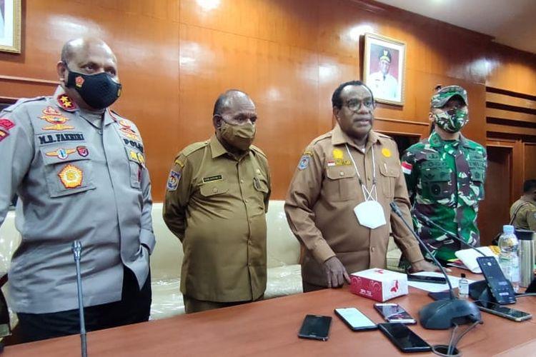 Pemprov Papua menggelar rapat koordinasi (rakor) dengan berbagai pihak terkait di Ruang Sasana Karya, Kantor Gubernur Papua, Senin (10/5/2021).