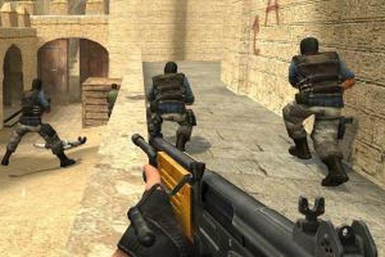 Game perang Counter Strike.
