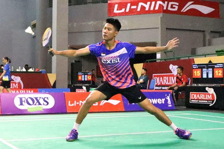 Pebulutangkis tunggal taruna putra besutan dari PB. Exist Badminton Club, Jakarta, Tegar Sulistio