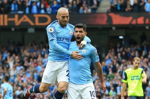 Aston Villa Vs Man City, Silva dan Aguero Incar Rekor Duo Chelsea