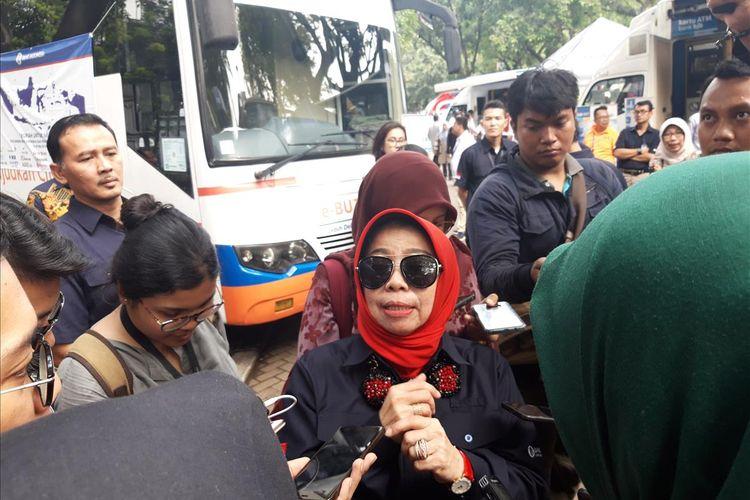 Deputi Gubernur Bank Indonesia (BI) Rosmaya Hadi di kawasan IRTI, Monas, Jakarta, Jumat (17/5/2019).