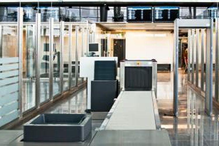 ILUSTRASI - Tempat pemeriksaan barang maupun calon penumpang di bandara.
