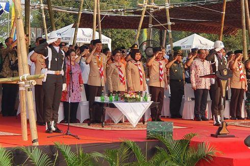Jokowi Hadiri HUT ke-58 Pramuka di Cibubur, Megawati Ikut Serta