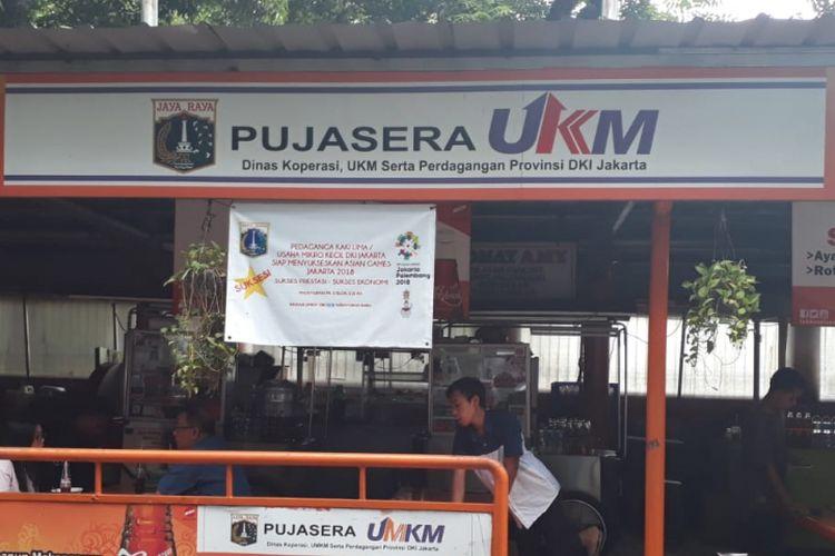 Pujasera Blok S, Kebayoran Baru, Jakarta Selatan. Foto diambil Kamis (28/6/2018).