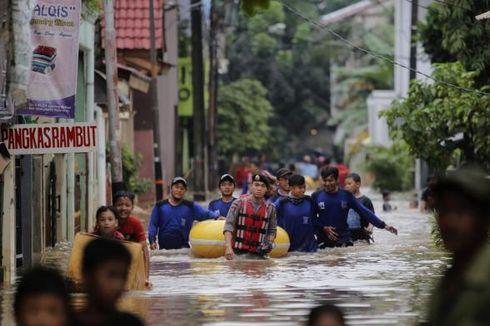 Banjir di Cipinang Melayu Diperparah Jebolnya Bronjong Kali Sunter