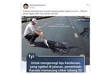 Viral, Gresik Pasang Stiker Jalan Berlubang 3D, Ini Penjelasannya...