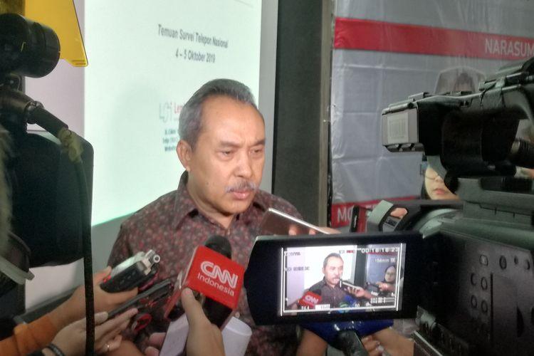 Kepala Pusat Penelitian Politik Lembaga Ilmu Pengetahuan Indonesia (LIPI) Syamsuddin Haris