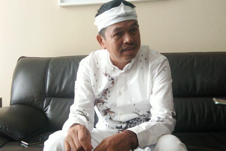 Ketua Tim Kampanye Daerah Pasangan Joko Widodo-Maruf Amin, Dedi Mulyadi saat ditemui di Bandung, Kamis (18/4/2019).