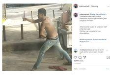 Video Viral Pria Mabuk di Banjarmasin Acungkan Senjata Tajam, Ternyata Napi Asimilasi