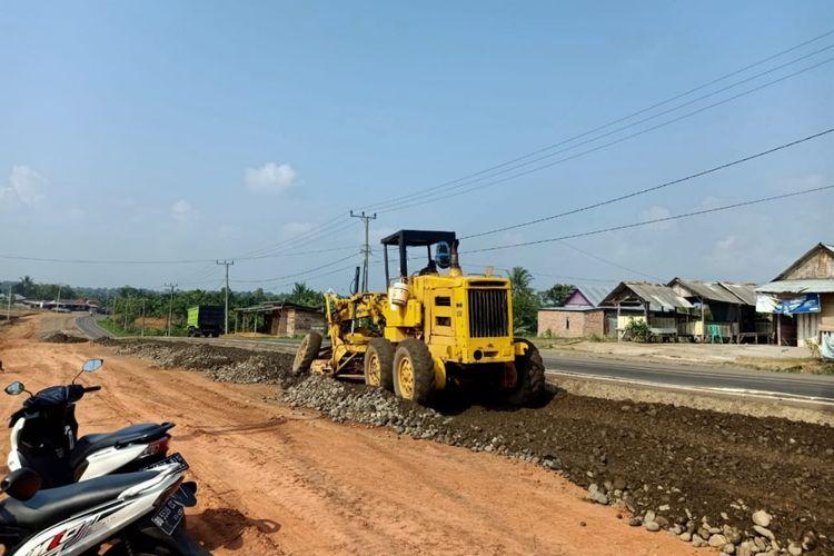 Pembangunan Bengkulu Outer Ring Road/BORR atau Jalan Lingkar Luar Bengkulu.