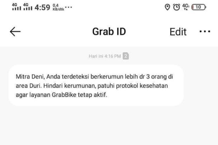 Director of Government Affairs & Strategic Collaborations Grab Indonesia Uun Ainurofiq mengatakan, penerapan geofencing merupakan salah satu solusi inovatif dalam mendeteksi GPS mitra pengemudi yang berkumpul dalam satu lokasi. Sistem kami akan langsung memberikan peringatan kepada pengemudi yang didapati melanggar peraturan,