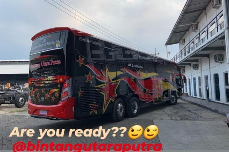 Bus AKAP baru PO Bintang Utara Putra