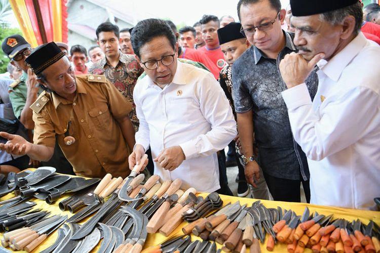 Gus Menteri saat kunjungan kerja ke Gampong Pande, Kecamatan Pasir, Aceh Utara