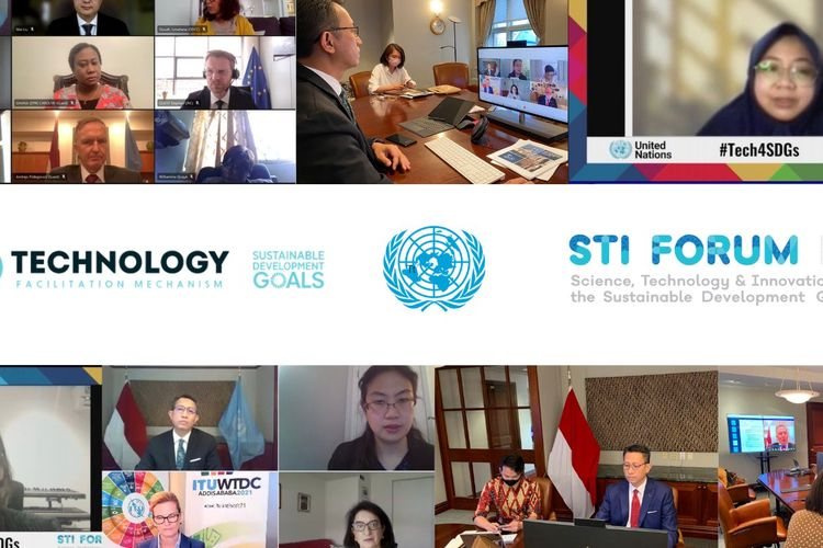 Kompilasi foto Forum Technology and Innovation for the SDGs (FTI) yang digelar secara daring oleha United Nations Economic and Social Council (ECOSOC) pada Selasa (4/5/2021) hingga Rabu (5/5/2021).