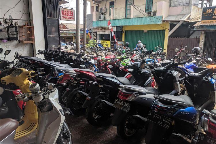 sepedaa motor yang dijajakan di Bursa Motor Bekas, Jalan Langsat, Koja, Jakarta Utara