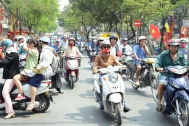 Lalu lintas Kota Ho Chi Minh