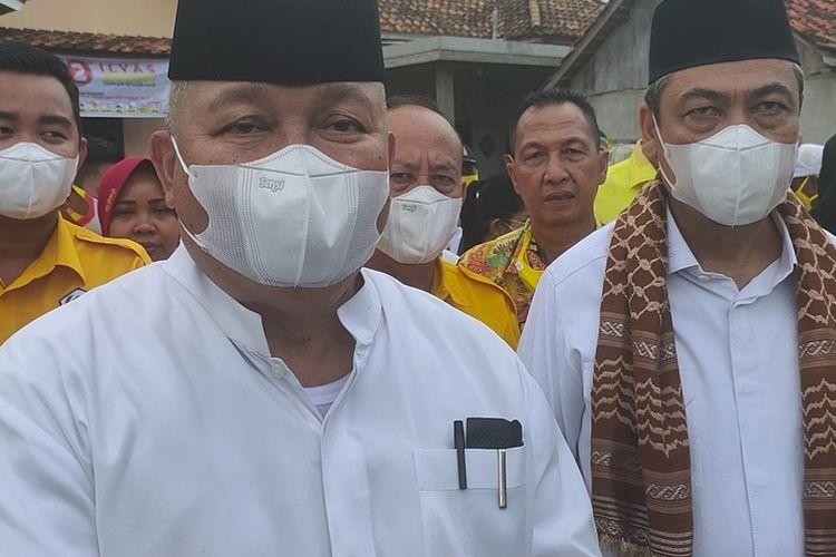 Ketua Dewan Pertimbangan Partai Golkar Sumsel Alex Noerdin saat melakukan kampanye di Ogan Ilir Minggu (15/11/2020)