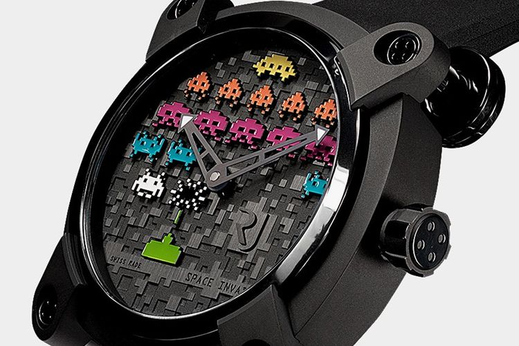 RJ Watches Moon Invader Space Invaders Pop 46mm Timepiece