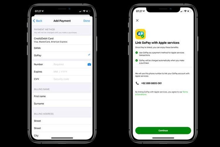 Cara menambahkan opsi GoPay sebagai metode pembayaran di App Store.