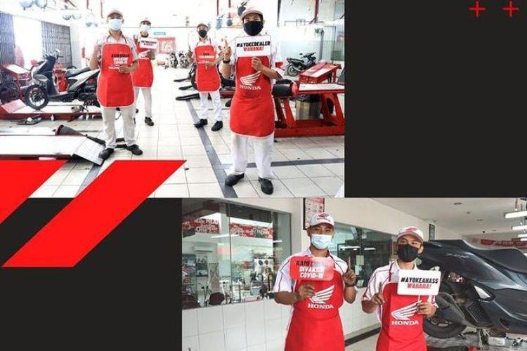 Seluruh karyawan diler serta bengkel resmi AHASS di bawah naungan Wahana Honda wilayah Jakarta-Tangerang, kini sudah 100 persen divaksinasi.