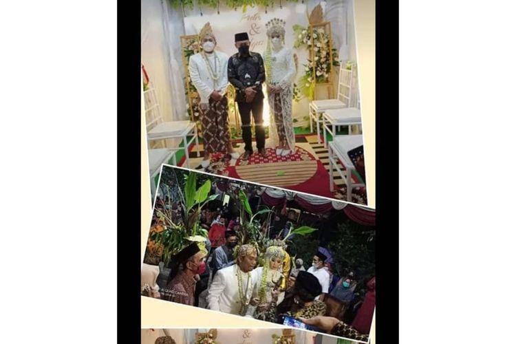 Inilah foto kehadiran Bupati Ponorogo, Sugiri Sancoko dalam satu acara pernikahan semasa PPKM Darurat, Minggu (25/7/2021)