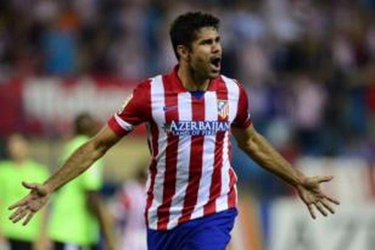Striker Atletico Madrid, Diego Costa.