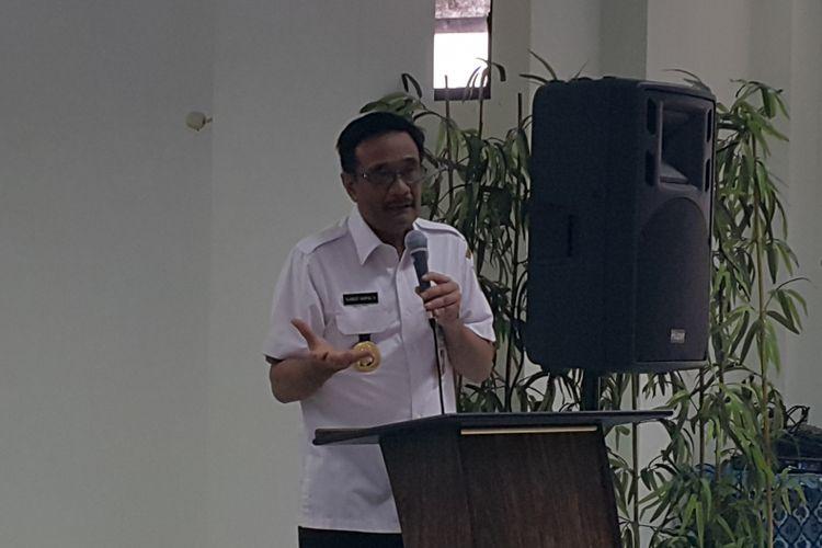 Gubernur DKI Jakarta Djarot Saiful Hidayat di Panti Sosial Bina Laras Harapan Sentosa 3, Jakarta Barat, Selasa (30/8/2017).