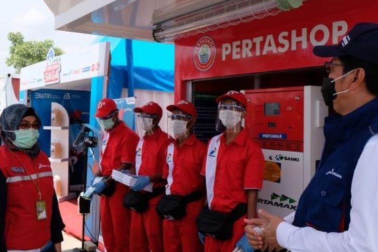 Kunjungan kerja Direktur dan Komisaris Pertamina di sepanjang Tol Trans Jawa