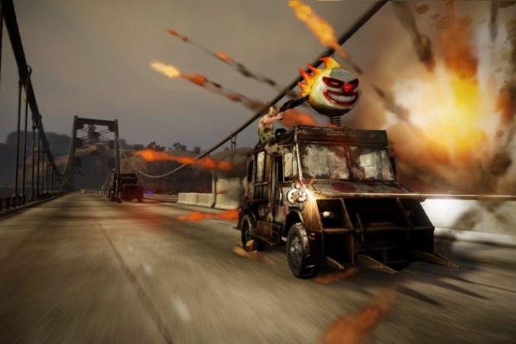 Ilustrasi kendaraan yang terdapat pada game Twisted Metal.