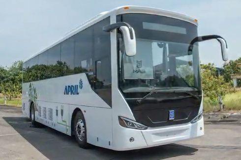 MAB Serahkan Bus Listrik MD 12E NF ke Perusahan Kertas