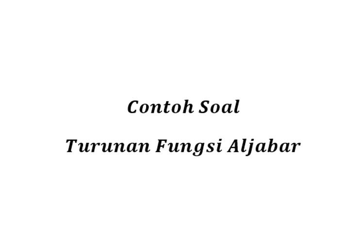 Contoh Aljabar