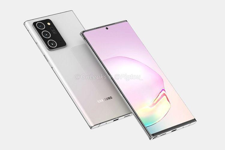Render bocoran desain Galaxy Note 20