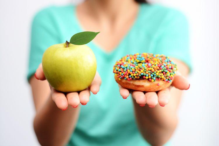 Ilustrasi diet, pilihan makanan