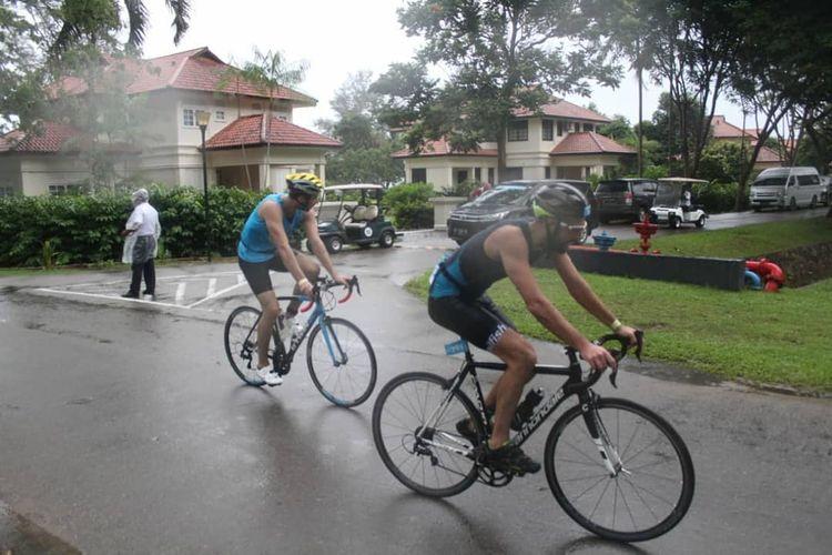 Olahraga sepeda turut dilombakan pada event sport tourism Ironman 70.3 2019 yang digelar di Bintan, Riau.