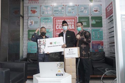 Rentan Terdampak Pandemi, Pewarta Dapat Bantuan Sembako dari Dompet Dhuafa dan PWI