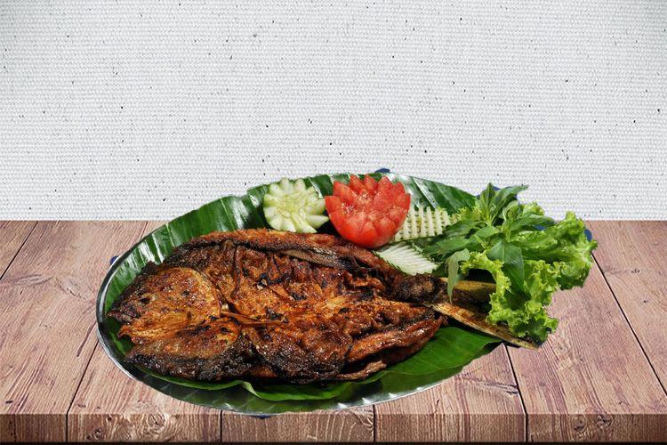 Bandeng Bakar di Waroeng Bamboe Sidomoeljo.