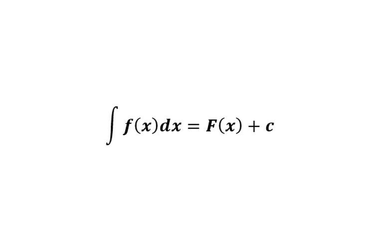 Bentuk integral tak tentu.